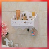 Hiasan Dinding Aksesoris Rumah Warna Putih Home Sweet Multifungsi