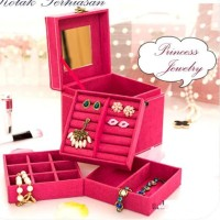Cashback Travelmate 3 Layer Jewelry Box Kotak Perhiasan Penyimpanan