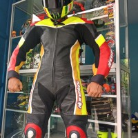 Wearpack Werpak Balap Motor Roadrace Road Race Kulit Asli Titanium