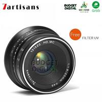7artisans 25mm F1.8 For Fuji - Hitam Lens Wide Lensa BONUS Filter UV