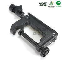 Mini Portable Swiveling C-Clamp Tripod Stand for Camera, Flash
