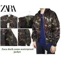 RH376 Zara men DARK camo waterproof bomber jacket original branded