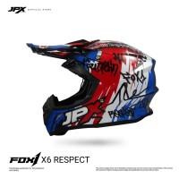 JPX Fox1 Full Face X6 Super Black/Blue
