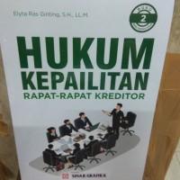 Hukum Kepailitan buku 2 Rapat Rapat Kreditor