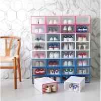 Kotak Sepatu Lipat - Box Rak Sepatu Lipat - Kotak Transparan Murah