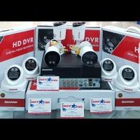 PAKET CCTV COLORFULL 8CH 2MP 1080P 5IN1 FULL HD KOMPLIIT HDD