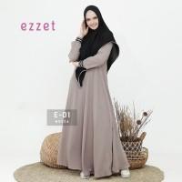 Gamis set jilbab syari Ezzet E O1 Original - Gamis busui woolcrepe ori