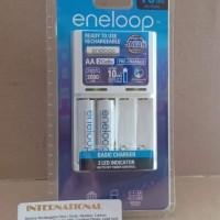 Charger Battery Panasonic Eneloop Basic 10 Jam + 2 Baterai