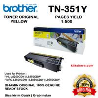 BROTHER Toner TN-351Y   TN351Y   TN351 Y Original Yellow