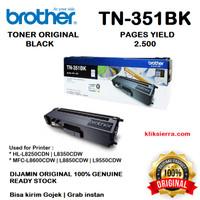 BROTHER Toner TN-351BK   TN351BK   TN351 BK Original Black