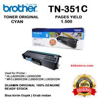 BROTHER Toner TN-351C   TN351C   TN351 C Original Cyan