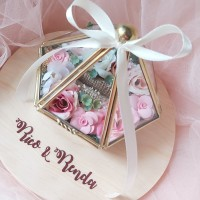 wedding ring box tempat cincin kotak kaca terrarium glass box
