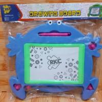 Mainan Papan Tulis Magnet karakter kodok/ Drawing Board