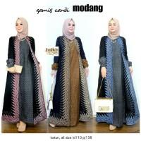 Gamis Cardi Modang Longdress Batik Muslim Modern Etnik Cantik Kekinian