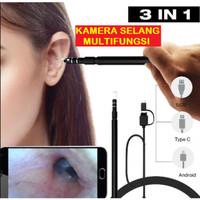 Alat Pembersih Telinga Dengan Kamera Panjang Camera Selang Multifungsi