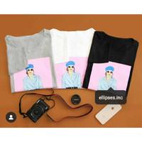 Tumblr Tee/Shirt/Kaos Wanita Lengan Panjang MEGAN TOP - ELLIPSES.I