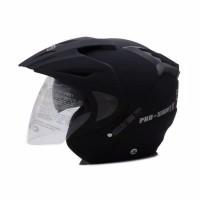 Helm Dewasa WTO Helmet Pro-Sight - Double Visor - Hitam Doff