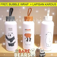 Miniso - Botol Minum We bare bears NEW water bottle grizzly ice bear
