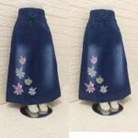 rok panjang jeans anak perempuan tanggung 3-12th