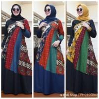 Gamis Batik Ratoe Modern kode AA01 bahan katun batik SINARAN