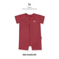LITTLE PALMERHAUS Zippy Playsuit - Romper Bayi (RED MAROON)