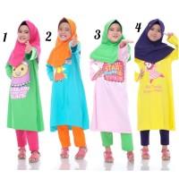 Baju Muslim Anak Perempuan Setelan Tunik Syari Paddle Kids Katun