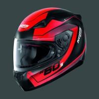 Nolan N605 Veles Flat Black Red