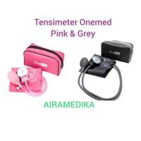 Tensimeter Kompas Onemed / Tensi Aneroid Onemed warna Pink & Grey