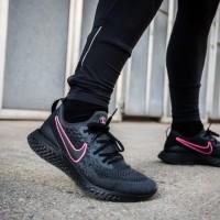 Sepatu Nike Epic React Flyknit 2.0 PSG Black Pink Unisex
