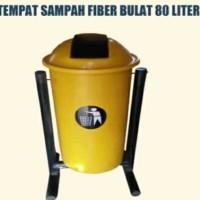 tempat sampah fiberglas 80 liter - Merah