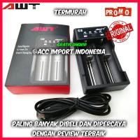 Fast Charger Baterai Battery AWT C2 2 slot dual slot 18650 26650