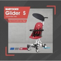 BabyDoes Glider S Convertible Trike Kereta Stroller Cabin Size