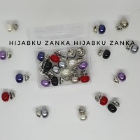 Sale Bros Pin Kancing Hijab Cardigan Jaket Baju Set 14 Pcs + Free Box