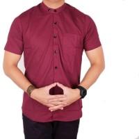 Terlaris Kemeja Koko Baju Muslim Baju Koko Lengan Pendek Pria Navy -