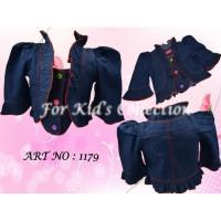 Bolero anak perempuan jeans Sz 1-8