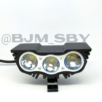 Lampu Tembak Sorot Motor Mobil LED CREE Mini OWL Ultrafire 3 Mata