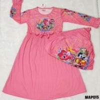 Promo Baju Muslim Gamis Anak Perempuan Rample 4 5 6 7 Tahun Map015 - 6