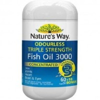 Natures Way Odourless Triple Strength Fish Oil 3000mg 70 caps