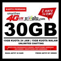 BIG SALE Kartu Perdana Smartfren Kuota 30 GB | 30GB (15GB 24 Jam |