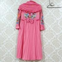 Baju Muslim Gamis Anak perempuan Rample 4 5 6 7 Tahun MAP015 - 6