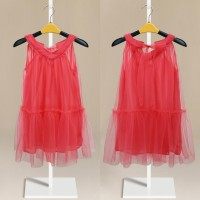 Summer Girls Red V-Neck Vest Dress