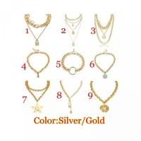Crystal Women Coin Statement Exaggeration Jewelry Necklace Boho Collar