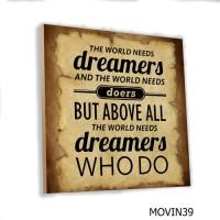 Poster Art Dinding Quotes Kata Motivasi MDF 20x20cm Wall Decor Vintage