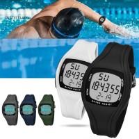 Jam Tangan Sport Casual Dial Kotak Anti Air dengan Alarm untuk Pria