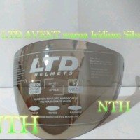 Kaca Helm LTD AVENT warna Iridium Silver Original.Visor Helm LTD AVE