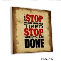 Poster Art Vintage Quote Kata Motivasi MDF 20x20cm Hiasan Dinding Kayu