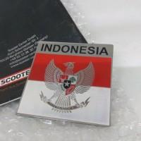 Sticker Metal Burung Garuda Indonesia Vespa Mobil Car Motor [WAV01]