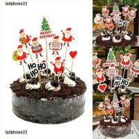 Cake Topper Desain Nine Santa Claus untuk Pesta Natal