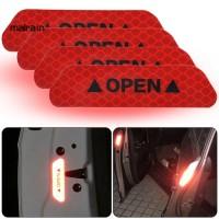 4Pcs Tape Stiker Reflektif Untuk Peringatan Keamanan Mobil