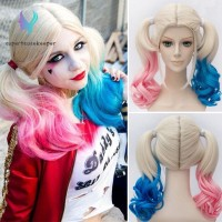 Hair Extensions Batman Suicide Squad Harley Quinn Cosplay Wig Pink